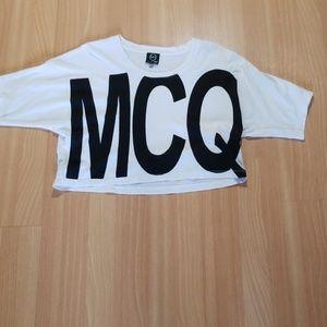 Alexander McQueen  Top Tshirt MCQ logo XS
